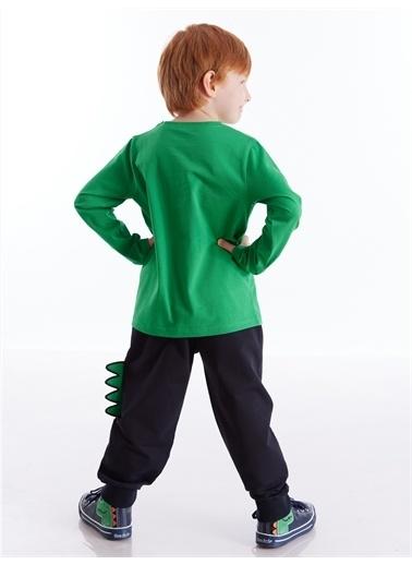 Denokids Tırtırlı Dino Erkek Çocuk Pantolon Takım Lacivert